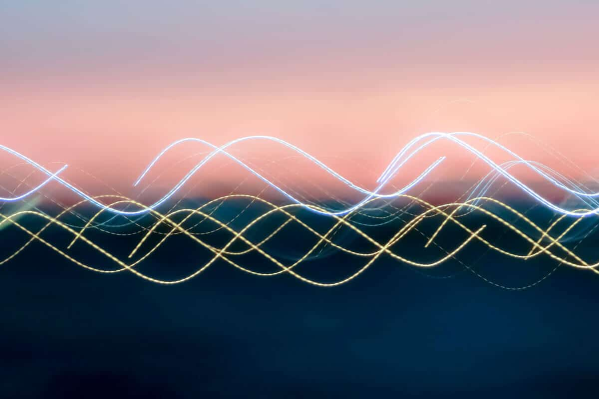 Abstraction of sound waves.