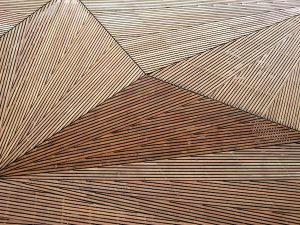Abstract wooden structure