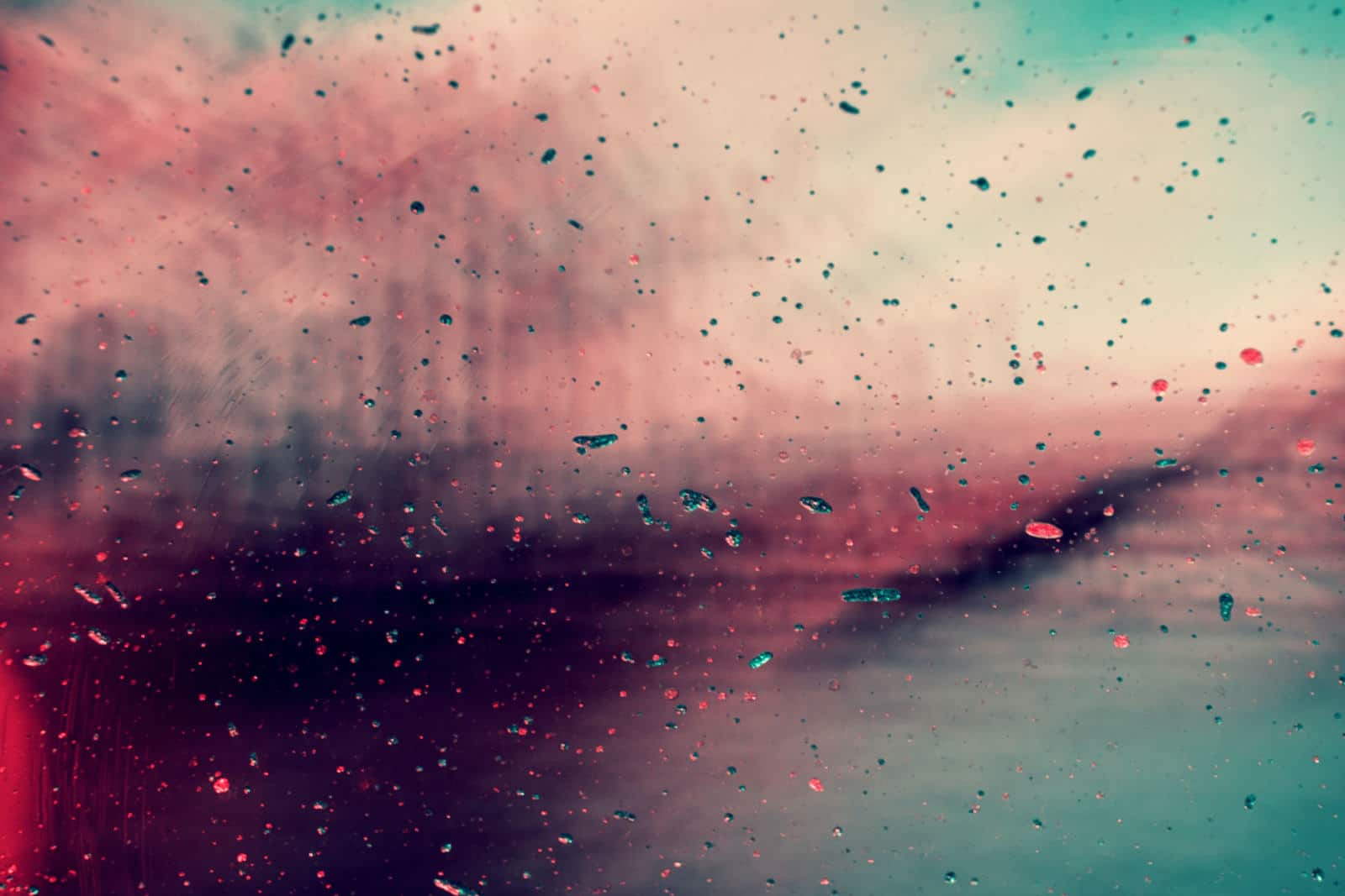 pink and blue splash