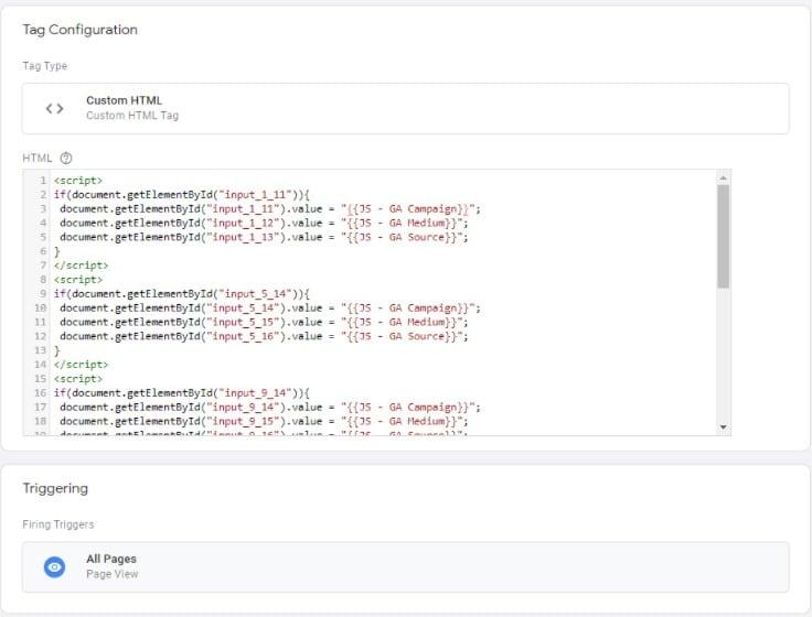 gtm, hidden field script